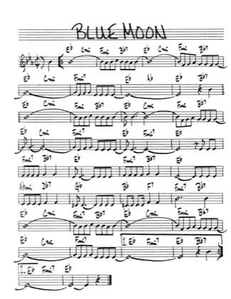 blue moon sheet music free pdf