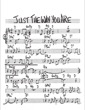 Thumbnail of First Page of Just the Way You Are (Part 1) sheet music by Anonymous