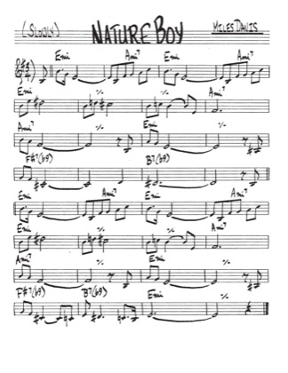 Thumbnail of first page of Nature Boy piano sheet music PDF by Miles Davis.