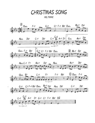 Thumbnail of first page of The Christmas Song piano sheet music PDF by Mel Torme.