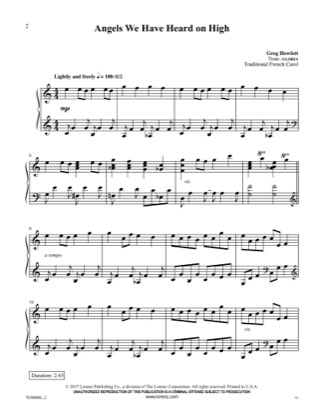 Thumbnail of first page of Angels We Have Heard on High piano sheet music PDF by Christmas Carol.