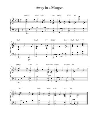 Thumbnail of first page of Away in a Manger piano sheet music PDF by Christmas Carol.