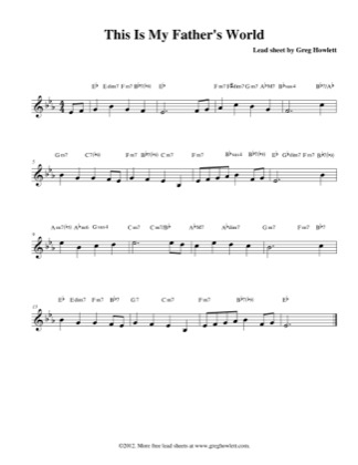 This Is My Father's World (Lead) by Greg Howlett Piano Sheet Music