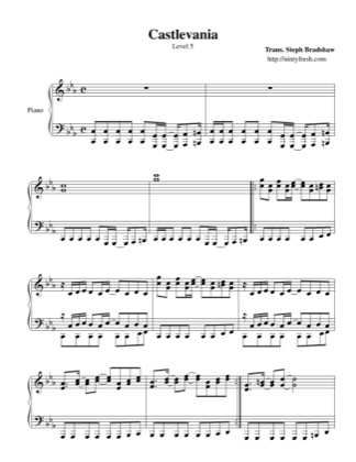 Thumbnail of first page of Level 5 piano sheet music PDF by Castlevania.