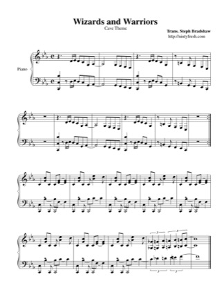Thumbnail of first page of Ice Cave piano sheet music PDF by Wizards & Warriors.