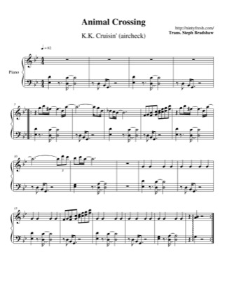 Thumbnail of first page of K.K. Cruisin' (aircheck) piano sheet music PDF by Animal Crossing.