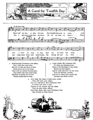 Thumbnail of first page of A Carol for the Twelfth Day piano sheet music PDF by Christmas.