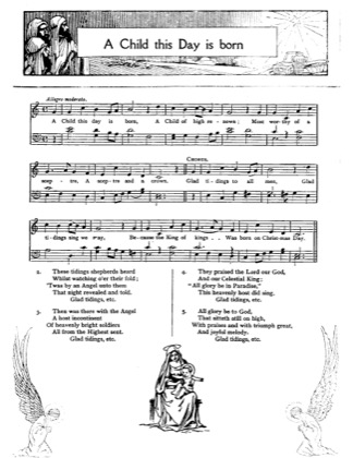Thumbnail of first page of A Child This Day is Born piano sheet music PDF by Christmas.