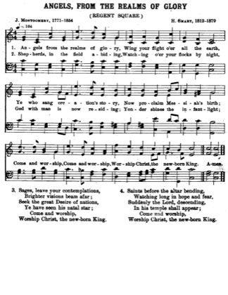 Thumbnail of first page of Angels from the Realm of Glory piano sheet music PDF by Christmas.