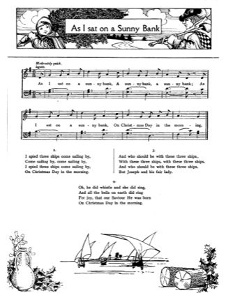 Thumbnail of first page of As I Sat on a Sunny Bank piano sheet music PDF by Christmas.