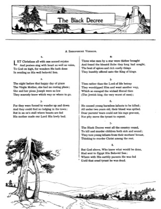 Thumbnail of first page of The Black Decree piano sheet music PDF by Christmas.