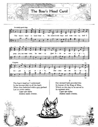 Thumbnail of first page of The Boar's Head Carol piano sheet music PDF by Christmas.