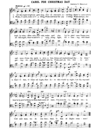 Thumbnail of first page of Carol for Christmas Day piano sheet music PDF by Christmas.