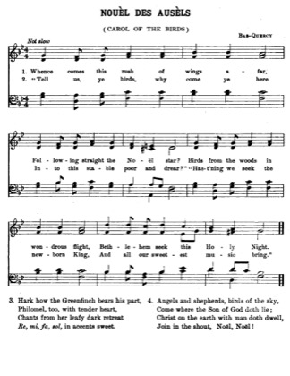 Thumbnail of first page of Carol of the Birds piano sheet music PDF by Christmas.