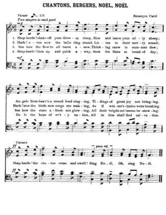 Thumbnail of first page of  Chantons, Bergers, Noel, Noel piano sheet music PDF by Christmas.