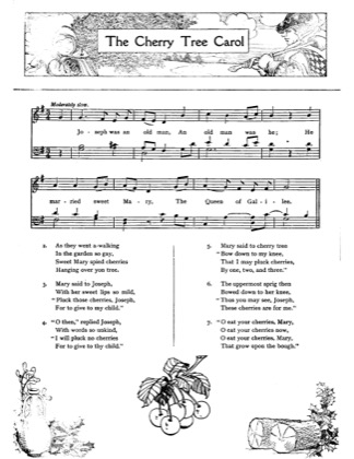 Thumbnail of first page of The Cherry Tree Carol piano sheet music PDF by Christmas.