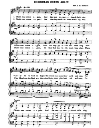 Thumbnail of first page of Christmas Comes Again piano sheet music PDF by Christmas.