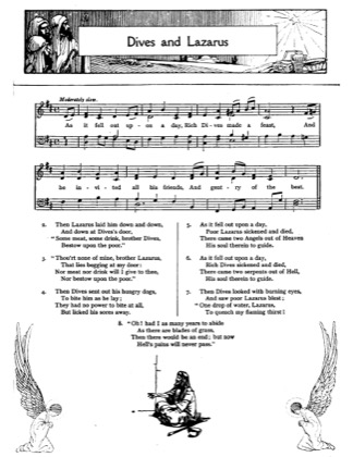 Thumbnail of first page of Dives and Lazarus piano sheet music PDF by Christmas.