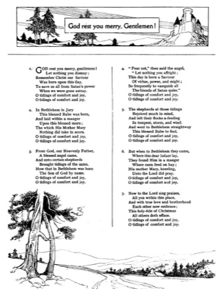 Thumbnail of first page of God Rest You Merry Gentlemen piano sheet music PDF by Christmas.