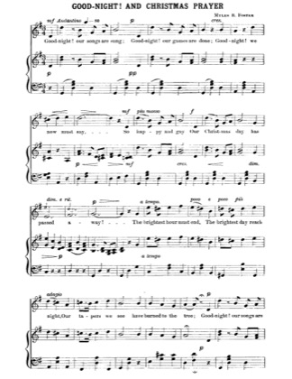 Thumbnail of first page of Goodnight and Christmas Prayer piano sheet music PDF by Christmas.
