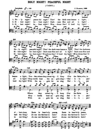 Thumbnail of first page of  Holy Night, Peaceful Night piano sheet music PDF by Christmas.