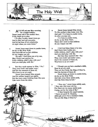 Thumbnail of first page of The Holy Well piano sheet music PDF by Christmas.