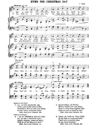 Thumbnail of first page of Hymn for Christmas Day piano sheet music PDF by Christmas.