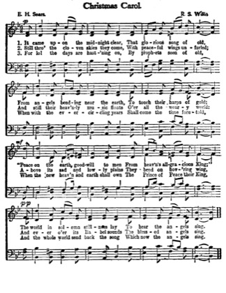 Thumbnail of first page of It Came Upon the Midnight Clear (2nd version) piano sheet music PDF by Christmas.