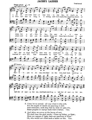 Thumbnail of first page of Jacob's Ladder piano sheet music PDF by Christmas.