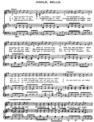 Thumbnail of first page of Jingle Bells piano sheet music PDF by Christmas.