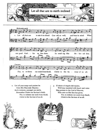 Thumbnail of first page of Let All That Are to Mirth Inclined piano sheet music PDF by Christmas.