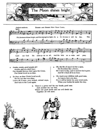 Thumbnail of first page of The Moon Shines Bright piano sheet music PDF by Christmas.