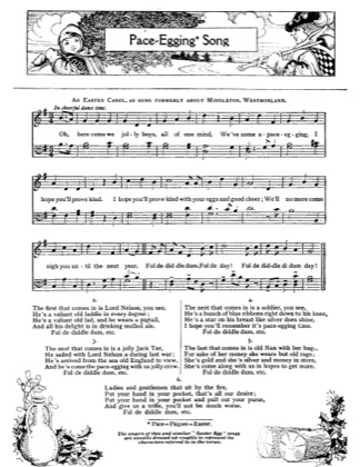 Thumbnail of first page of Pace Egging Song piano sheet music PDF by Christmas.