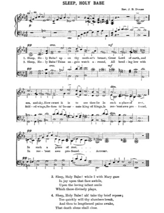 Thumbnail of first page of Sleep Holy Babe piano sheet music PDF by Christmas.