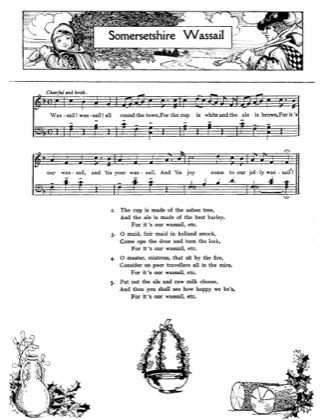 Thumbnail of first page of Somersetshire Wassail piano sheet music PDF by Christmas.
