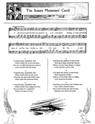 Thumbnail of first page of The Sussex Mummers' Carol piano sheet music PDF by Christmas.