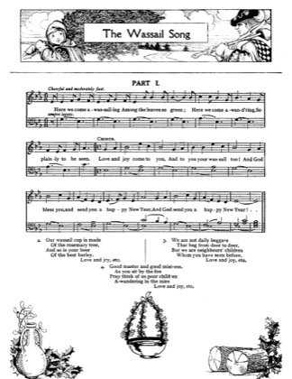Thumbnail of first page of The Wassail Song piano sheet music PDF by Christmas.
