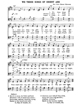 Thumbnail of first page of We Three Kings of Orient Are (3) piano sheet music PDF by Christmas.
