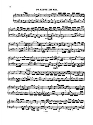 Thumbnail of first page of Prelude and Fugue No.13 F# major, BWV 882 piano sheet music PDF by Bach.