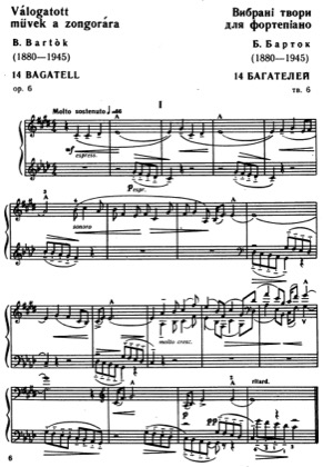 Thumbnail of first page of Bagatelles Op.6 piano sheet music PDF by Bartok.