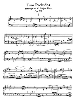 Thumbnail of first page of Preludes through all twelve major keys, Op.39 piano sheet music PDF by Beethoven.