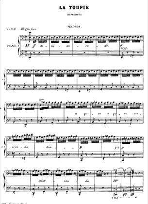 Thumbnail of first page of No.2 La Toupie piano sheet music PDF by Bizet.