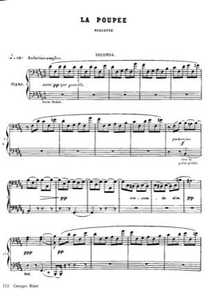 Thumbnail of first page of No.3 La Poupee piano sheet music PDF by Bizet.