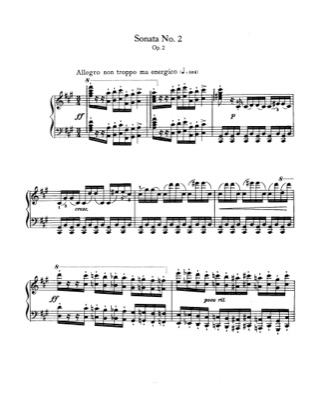 Thumbnail of first page of Piano Sonata No.2 in f sharp minor piano sheet music PDF by Brahms.