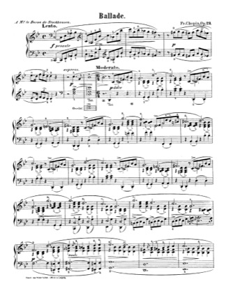 Print and download for free: Ballade No.1 in g minor, Op.23 piano sheet music by Chopin.