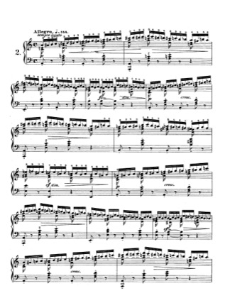 Thumbnail of first page of Op.10, Etude No.2 piano sheet music PDF by Chopin.