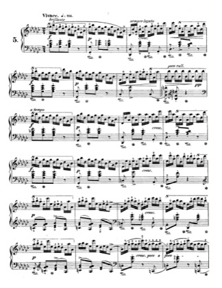 Thumbnail of first page of Op.10, Etude No.5 piano sheet music PDF by Chopin.