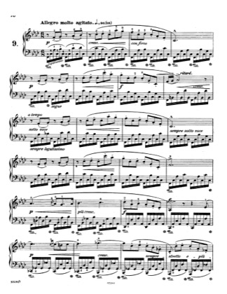 Thumbnail of first page of Op.10, Etude No.9 piano sheet music PDF by Chopin.