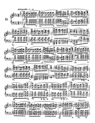 Thumbnail of first page of Op.10, Etude No.11 piano sheet music PDF by Chopin.