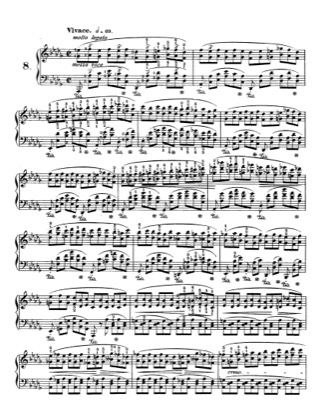 Thumbnail of first page of Op.25, Etude No.8 piano sheet music PDF by Chopin.